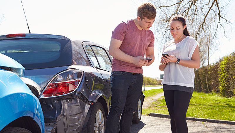 Exchanging information after an auto accident