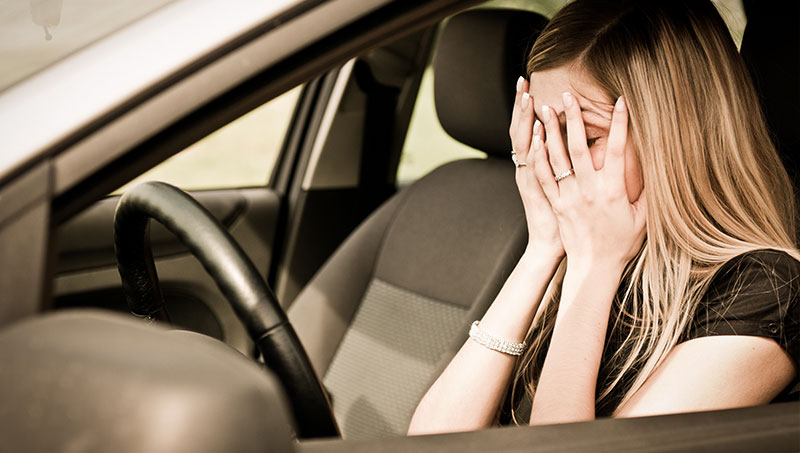 Stressful driving after auto accident